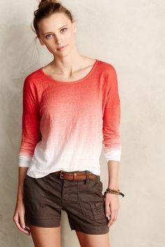Velvet by Graham and Spencer Dip-Dyed Linen Scoop Tee #anthrofave