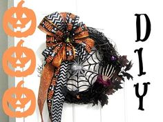Dollar Store Halloween Wreath DIY - The290ss - YouTube
