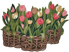 Homefires Tulips In Whisker Basket Shaped Rug 3 x 3 Indoor Rug -- To view further for this item, visit the image link. (This is an affiliate link) Novelty Rugs, Floral Rug, Indoor Outdoor Rugs, Wicker Baskets, Decorating Your Home, Tulips, Area Rugs, Shapes, Floors