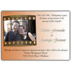 Wedding invitation card.  Tarjeta invitación para boda.