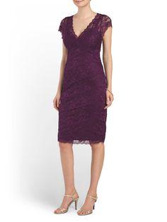 Plum lace dress