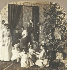 Stenograph view of an American Christmas, 1850-1910