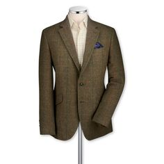 Sharp. Green Yorkshire tweed classic fit sport coat | Men's sport coats & blazers from Charles Tyrwhitt | CTShirts.com