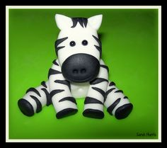 - fondant zebra but could also be made out of clay