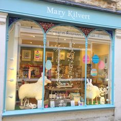 Our window display for Easter includes colourful eggs, sheep with bunny ears and a pretty swing for my flock. We are looking forward to the Frome Independent Market that starts this Sunday and will have some new exciting products on show