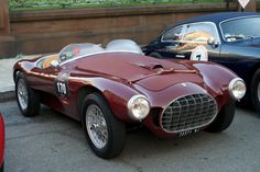 1951 Ferrari 212 Barchetta driven by Peter Carlino and Ben Zintak on the 2012 California Mille event.