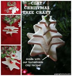 Homemade Clay Christmas Tree Ornament - FUN & frugal activity to do with children this holiday season!
