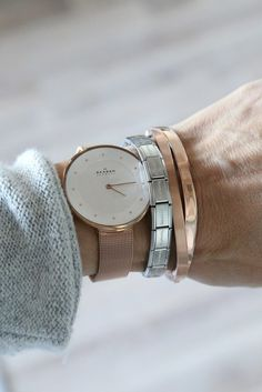 skagen. Love the large face. not sure about the rose gold color.