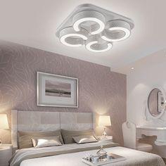 Schlafzimmer lampe moderne graue schöne led decken | Schlafzimmer ...