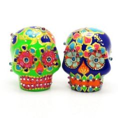 Dia De Los Muertos Mexican Skull Wedding Cake Topper A00012 Skull Day of Dead Wedding Skull Lover Cake toppers Ceramic Handmade Dia De Los Muertos