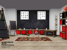 - Phosphorus Playroom  Found in TSR Category 'Sims 3 Kids Bedroom Sets'