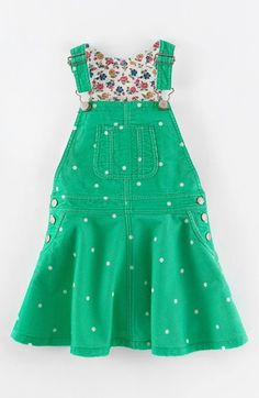 Mini Boden Overall Dress (Toddler Girls, Little Girls & Big Girls) | Nordstrom