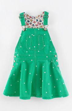 Mini Boden Overall Dress (Toddler Girls, Little Girls & Big Girls) | Nordstrom