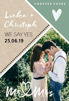 Hip design huwelijksuitnodiging met foto Cool wedding card with geometric area division, kraft paper and own photo. Wedding Tips, Wedding Cards, Wedding Planning, Dream Wedding, Safe The Date, Engagement Shots, Engagement Invitations, Elegant Wedding Invitations, Save The Date Cards