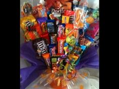 Wrap'd n More Halloween Candy Bouquets