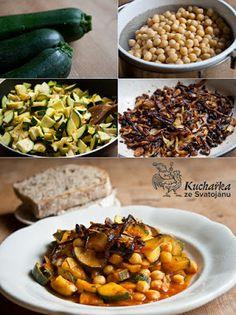 Kuchařka ze Svatojánu: CIZRNA S CUKETKOU Raw Food Recipes, Chana Masala, Quinoa, Zucchini, Grains, Food And Drink, Vegetables, Eat, Cooking