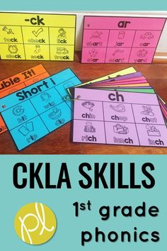This is a huge bundle for the entire first grade year in CKLA Skills! These materials are designed for extra phonics instruction and practice in small groups and centers. I added them to our CKLA Skills block and Guided Reading Daily 5 word work centers. #cklaskills #phonicscenters