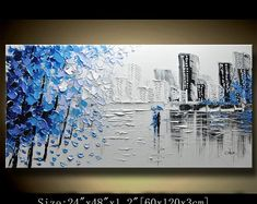A new type of Abstract Wall Painting,contemporary wall art,Impasto cityscape Landscape Painting,Palette Knife Painting on Canvas by Chen Landscape Artwork, City Landscape, Abstract Landscape, Palette Knife Painting, Texture Painting, Abstract Wall Art, Acrylic Art, Painting Inspiration, Canvas Art