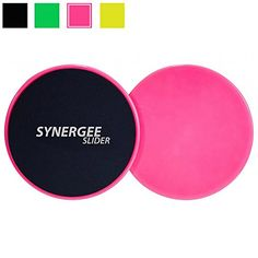 Synergee Power Pink Gliding Discs Core Sliders Dual Sided Use on Carpet or Hardwood Floors Abdominal Exercise Equipment -- More info could be found at the image url.
