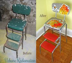 Upcycled vintage step stool