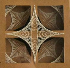 STRING ART GEOMETRIC Abstract Home Décor Wall Art by BoldFolds