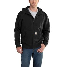 Carhartt Men s Quick Duck Jefferson Active Jacket 101493 Black Carhartt  Workwear 82d5ed15bc2