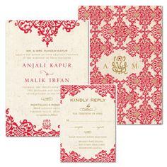 Vintage Scrollwork Ganesh Indian Wedding Invitation Collection