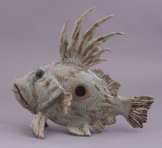 """Big Kahuna"" John Dory fish sculpture from Out of the Blue Ceramic Studio"