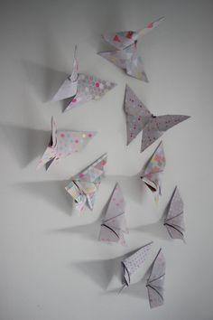 10 papillons origami papier édition limitée par LaureDaintyArt