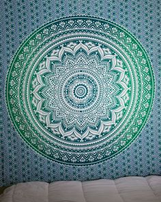 Green Ombre Tapestry