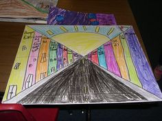 Simply Art Lessons for Kids: 1 Point Perspective Portfolios