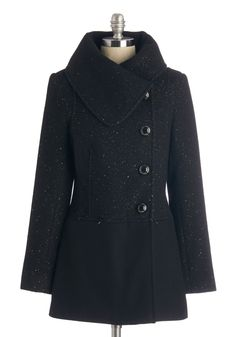 Twinkle Belle Rock Coat. Mix and mingle in the twinkling beat of this festive black coat by Kensie. #black #modcloth