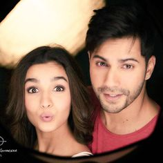 #sneakpeak #badrinathkidulhania. Badri with his pouting dulhania. Some love stories need more than one film. March 10th2017.
