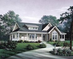 Bungalow Country Craftsman Ranch Elevation of Plan 87811