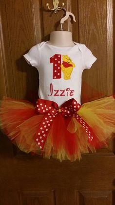 Personalized Girl's Winnie the Pooh Birthday Outfits