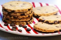 Chocolate Chip Teatime Biscuits (vegan, egg, dairy & gluten-free)o Chocolate Chip Cookies, Chocolate Chip Biscuits, Chocolate Chip Recipes, Chocolate Brownies, Gluten Free Desserts, Vegan Gluten Free, Gluten Free Recipes, Dessert Recipes, Dairy Free