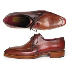 Paul Parkman Goodyear Welted Square Toe Apron Derby Shoes Brown (ID 322A7). Men s  Wedding ShoesDress ShoesNew ShoesBusiness ... 2fbaec75a359