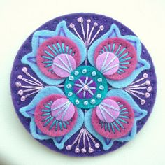 beautiful embroidery and felt piece