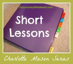 Short Lessons in a Charlotte Mason homeschool