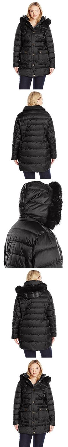 7891a071861 Halifax Traders Women s Plus-Size Puffer Coat with Front Pockets