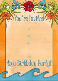 Free printable beach party invitations from free printable beach party luau and bbq invitations templates stopboris Image collections