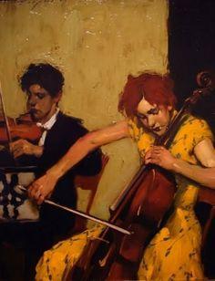 マルコム・リエプク 楽器を弾く女性