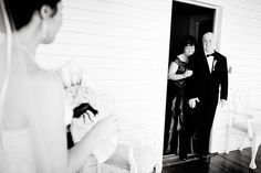 great pic of the parents of the bride getting their first look