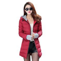 OMZIN Women Work Plaid Overcoat Winter Hood Woolen Cloak Coat Jacket Wine Red,S