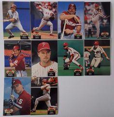 1992 Topps Stadium Club Series 1 Phillies Team Set 10 Baseball Cards #topps #PhiladelphiaPhillies