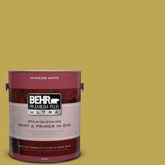 BEHR Premium Plus Ultra 1 gal. #PPU6-18 Lemongrass Flat/Matte Interior Paint