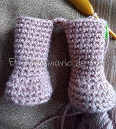 cuerpo base amigurumi en una pieza sin coser Crochet Bear Patterns, Doll Patterns Free, Heart Patterns, Free Pattern, Magic Ring, Amigurumi Doll, Crochet For Kids, Single Crochet, Fun Projects
