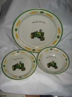 Art John Deere Dishes colors-and-remodeling John Deere Kitchen, John Deere Decor, Kitchen Dinning, John Deere Tractors, Kitchen Themes, Country Charm, Recipes From Heaven, Bowl Set, My Dream Home