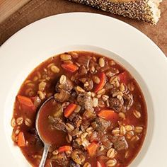 Quick Beef & Barley Soup - EatingWell.com