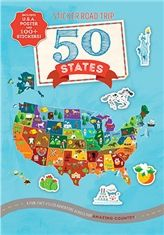 Sticker Road Trip: 50 States - Silver Dolphin